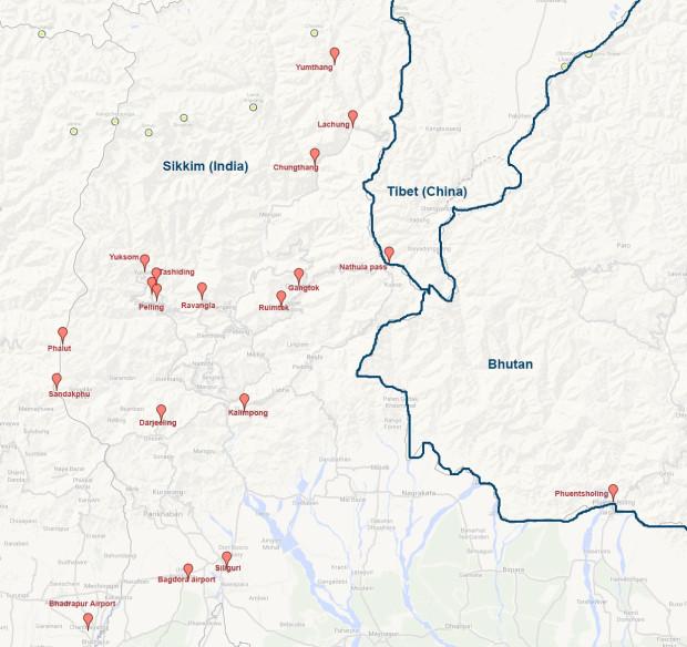 sikkim-map