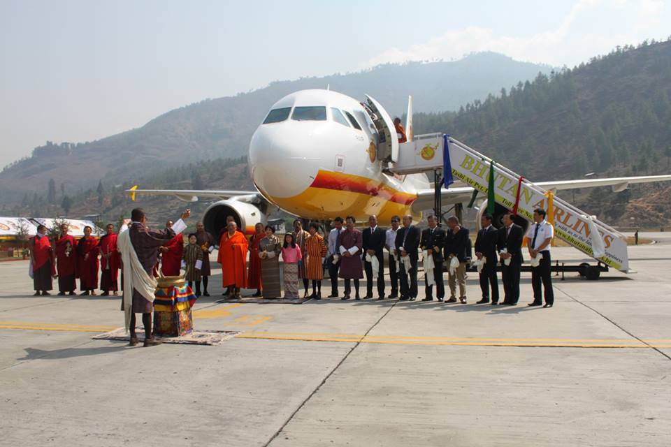 Ceremony for the induction of  A 319 Bhutan Airlines